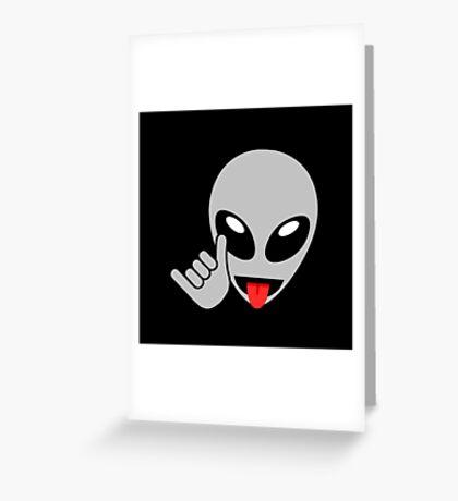 Alien Shaka Hang Loose  Greeting Card