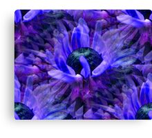 Abstract Purple Daisy Flower Pattern Canvas Print