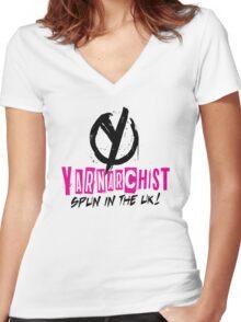 Heavy Metal Knitting - Yarnarchist - Spun in the UK Women's Fitted V-Neck T-Shirt