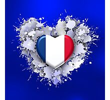 Love to France over blue Photographic Print