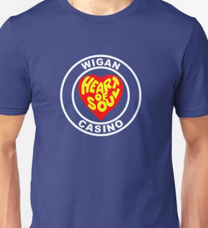 Northern Soul Wigan Casino heart of Soul Unisex T-Shirt