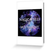 Magic Spells & Moonlight Greeting Card