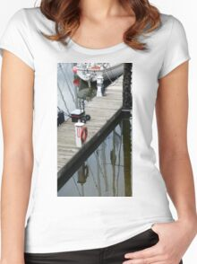 Masts In The Sea Women's Fitted Scoop T-Shirt
