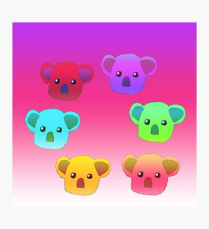 Winter Koalas - Pink/Purple Photographic Print