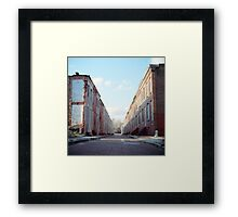 Boarded Up Rowhomes Framed Print