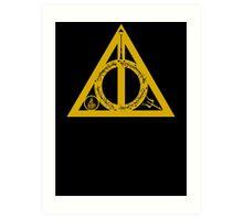 Bookly Hallows - Gold Art Print