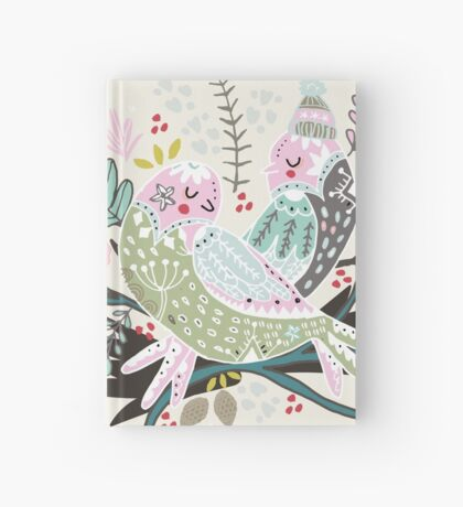 Holiday Birds Love Hardcover Journal