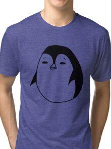 Moody Penguin Tri-blend T-Shirt