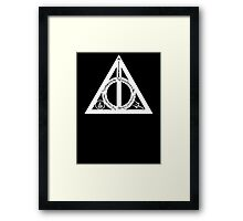 Bookly Hallows - White Framed Print