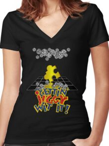 """""""Gettin' Jiggy Wit' It!"""" Women's Fitted V-Neck T-Shirt"""