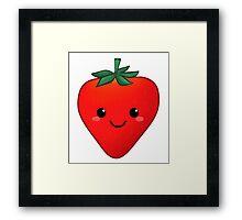 kawaii strawberry Framed Print