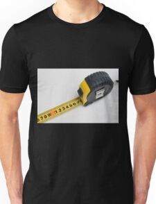 a yellow measuring tape on white background Unisex T-Shirt