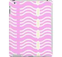 Wavelength pink and cream pattern iPad Case/Skin