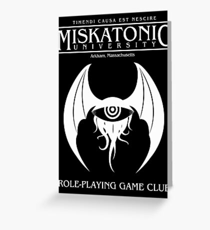 Miskatonic RPG Club Greeting Card