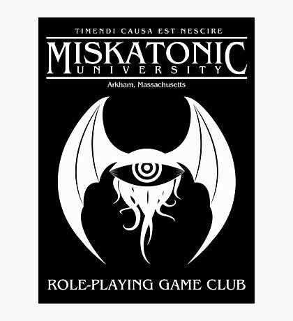 Miskatonic RPG Club Photographic Print