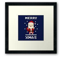 Retro Pixelart Santa Framed Print