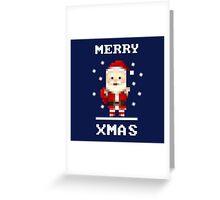 Retro Pixelart Santa Greeting Card