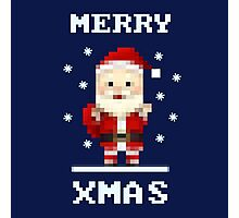 Retro Pixelart Santa Photographic Print