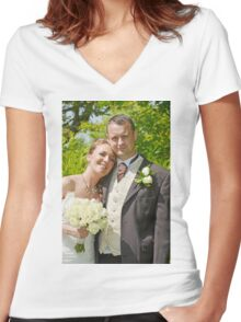 Wedding Women's Fitted V-Neck T-Shirt