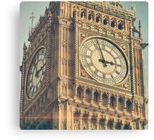 Vintage photograph of Big Ben - London, England Canvas Print