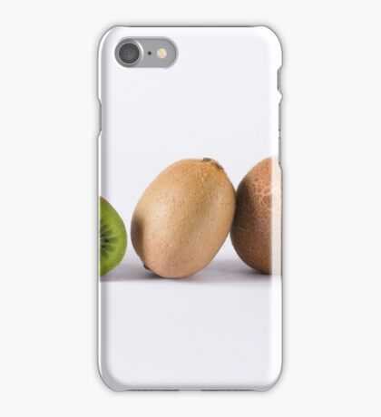 Kiwis on white background iPhone Case/Skin