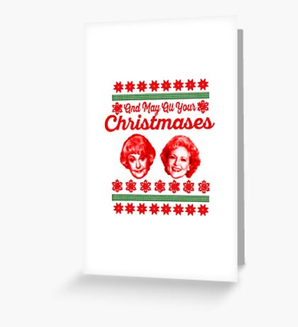 Golden Girls Christmas Greeting Card