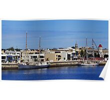 FALIE & ONE AND ALL DOCKED-PORT ADELAIDE Poster