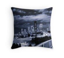 Downtown Seattle Cityscape Throw Pillow