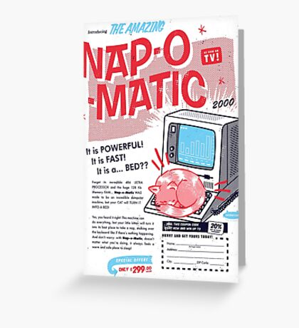 Nap-O-Matic Greeting Card