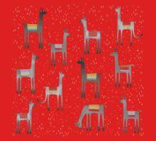 Llamas in the Meadow One Piece - Short Sleeve