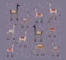 Llamas in the Meadow Kids Tee