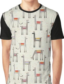Llamas in the Meadow Graphic T-Shirt