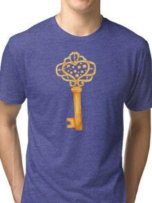 gold Antique Key Tri-blend T-Shirt