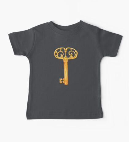 gold Antique Key _2 Baby Tee