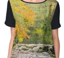 Autumn At Torr Steps Chiffon Top