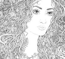 Forest Beauty. A Fairy Tale Sticker