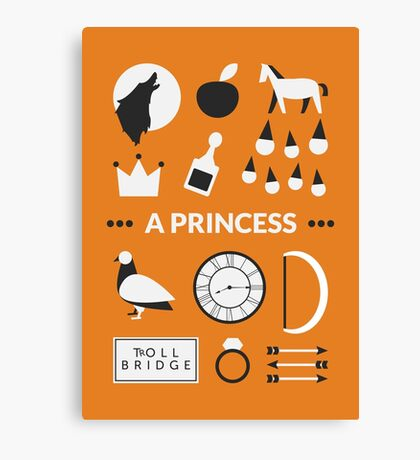 Once Upon A Time - A Princess Canvas Print