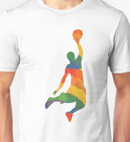 Farbiger Basketballer Unisex T-Shirt