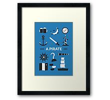 Once Upon A Time - A Pirate Framed Print