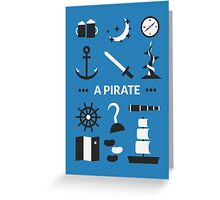 Once Upon A Time - A Pirate Greeting Card