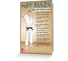 Mat Rules Poster Greeting Card