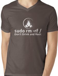 Dont Drink And Root Mens V-Neck T-Shirt