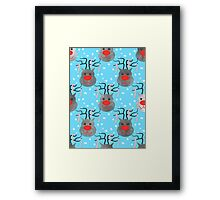 Reindeer And Candy Canes Framed Print