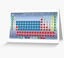 Christmas Periodic Table Greeting Card