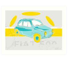 Fiat 500 - Vintage poster Art Print