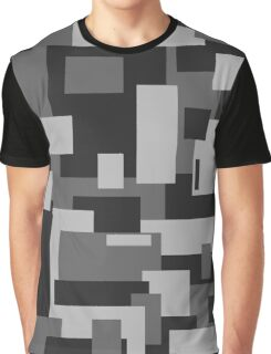 Grey Rectangle Sky - Abstract Graphic T-Shirt