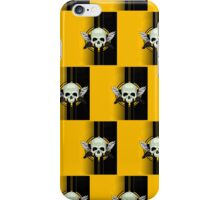 Wing Skull - YELLOW (Pattern 2) iPhone Case/Skin