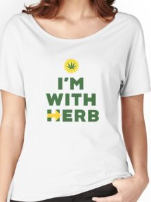 """""""I'm With Herb"""" - Hillary Clinton Cannabis Women's Relaxed Fit T-Shirt"""