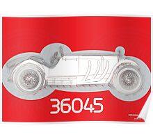 Mercedes SSK - 1929 Vintage Poster Poster