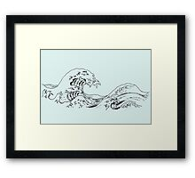 """The Great Wave off Kanagawa"" Framed Print"